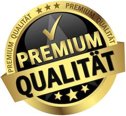 Illustration eines Labels mit der Aufschrift Premium Qualität